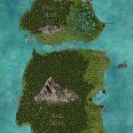Map of Rackham's Cay